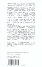 Aubergiste, Tu Seras Pendu - 4ème de couverture - Format classique