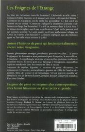 Les Enigmes De L'Etrange - 4ème de couverture - Format classique