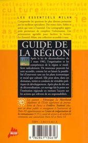 Guide de la région - 4ème de couverture - Format classique