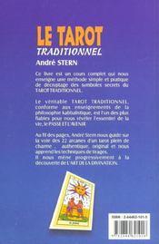 Le Tarot Traditionnel - 4ème de couverture - Format classique