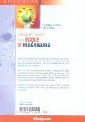Comment choisir son école d'ingenieurs ? (6e édition) - 4ème de couverture - Format classique
