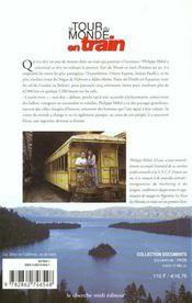 Le Tour Du Monde En Train - 4ème de couverture - Format classique