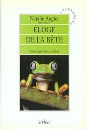 Eloge De La Bete - Intérieur - Format classique