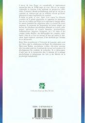 Lire Piaget - 4ème de couverture - Format classique