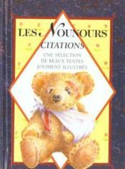 Nounours - citations - Couverture - Format classique
