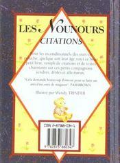 Nounours - citations - 4ème de couverture - Format classique
