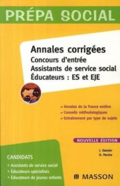 Assistants, service social, éducation ; ES/EJE (5e édition)  - J Gassier - O Perche