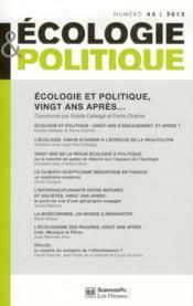 Revue ecologie & politique t.45 - Couverture - Format classique