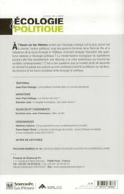 Revue ecologie & politique t.45 - 4ème de couverture - Format classique