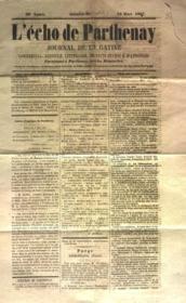 Echo De Parthenay (L') N°10 du 10/03/1867 - Couverture - Format classique