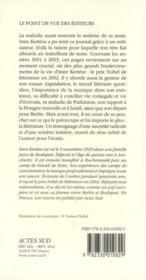 Sauvegarde ; journal 2001-2003 - 4ème de couverture - Format classique