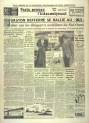 Paris Presse L'Intransigeant N°4270 du 06/09/1958 - Couverture - Format classique