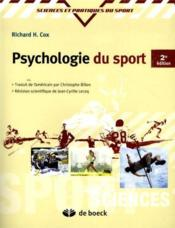 Vente  Psychologie du sport  - Richard H. Cox