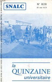 La Quinzaine Universitaire N°828 - Couverture - Format classique