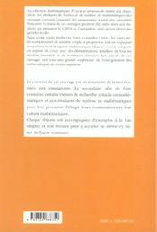 Quelques Aspects Des Mathematiques Actuelles - 4ème de couverture - Format classique