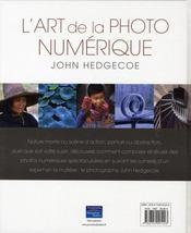 L'art de la photo numérique - 4ème de couverture - Format classique