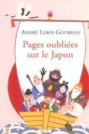 Pages oubliées sur le Japon - Intérieur - Format classique