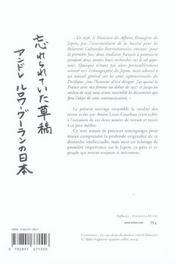 Pages oubliées sur le Japon - 4ème de couverture - Format classique
