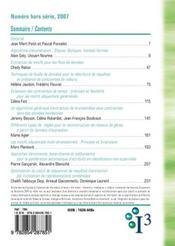 I3 information interaction intelligence ; hors série 2007 - 4ème de couverture - Format classique