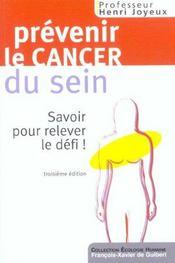 Prévenir les cancers du sein - Intérieur - Format classique
