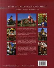 Fêtes et traditions populaires en Wallonie et à Bruxelles - 4ème de couverture - Format classique