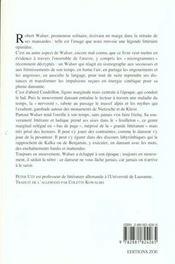 Robert Walser - Danser Dans Les Marges - 4ème de couverture - Format classique
