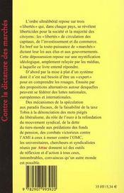 Attac Contre La Dictature Des Marches - 4ème de couverture - Format classique