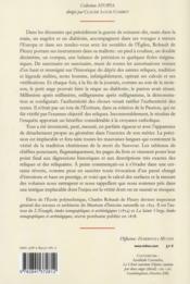 Mémoire sur les instruments de la passion de n. s. Jésus-Christ - 4ème de couverture - Format classique