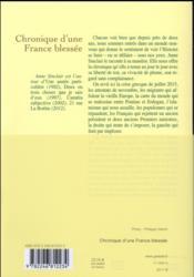 Chronique d'une France blessée - 4ème de couverture - Format classique