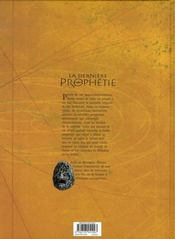 La dernière prophétie t.4 ; le livre maudit - 4ème de couverture - Format classique