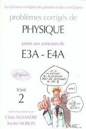 Problemes poses a e3a-ea4 - Intérieur - Format classique