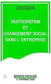 Participation Et Changementsocial Dans L'Entreprise - Intérieur - Format classique