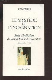 Le Mystere De L'Incarnation - Couverture - Format classique