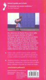 Pérou - 4ème de couverture - Format classique