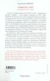 Ambroise Pare - 4ème de couverture - Format classique