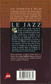 Le jazz - 4ème de couverture - Format classique