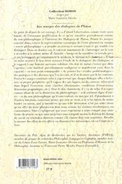 Aux Marges Des Dialogues De Platon - 4ème de couverture - Format classique