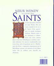 Le livre des saints - 4ème de couverture - Format classique