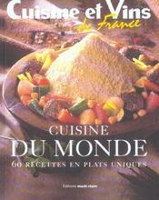 Cuisine Du Monde ; 60 Recettes En Plats Uniques - Intérieur - Format classique