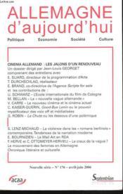 Acteurs Du Cinema Allemand. Allem D Auj N 176 - Couverture - Format classique