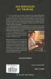 Les Aveugles Au Travail - 4ème de couverture - Format classique