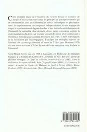 Jacques Chessex ; la lumière de l'obscur - 4ème de couverture - Format classique