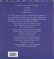 Le festin lyrique - 4ème de couverture - Format classique