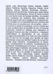 Nouvelles de l'origine du travestissement t.1 - 4ème de couverture - Format classique