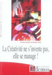 La créativité ne s'invente pas, elle se manage - Intérieur - Format classique