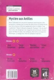 Alex Leroc, journaliste ; mystère aux Antilles - 4ème de couverture - Format classique