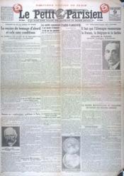 Petit Parisien Derniere Edition De Paris (Le) N°15370 du 09/03/1919 - Couverture - Format classique