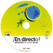 En Directo ; Espagnol ; 2ème Année ; Cd Elève De Remplacement - Couverture - Format classique