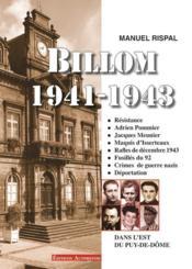 Billom 1941-1943 - Couverture - Format classique