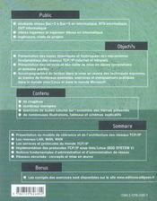 L'Architecture Des Reseaux Tcp/Ip Services Utilisations Implementation Administration Securite - 4ème de couverture - Format classique